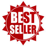 Rött emblem för bästa säljare Arkivfoton