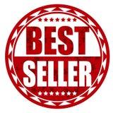Rött emblem för bästa säljare Royaltyfri Bild