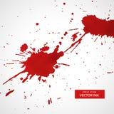 Rött färgpulver plaskar texturfläckbakgrund Royaltyfri Fotografi