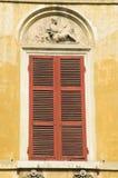 rött fönster Royaltyfri Foto