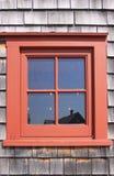 rött fönster Royaltyfria Foton