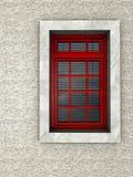 rött fönster Arkivfoton