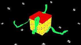 Rött - försilvra stjärnagåvaasken med strumpebandsordenöppning arkivfilmer