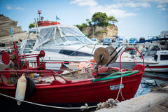 Rött fartyg Royaltyfri Fotografi