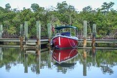 Rött fartyg anslöt Florida Royaltyfria Bilder