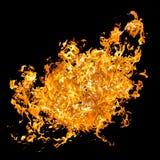 Rött flamma Brandtungor i en collage arkivfoto