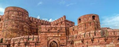 Rött fort, Agra, Uttar Pradesh, Indien arkivbilder