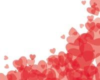 rött genomskinligt för hjärtor vektor illustrationer