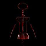 rött genomskinligt för korkskruv Royaltyfri Foto