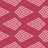 Rött geometriskt tryck seamless modell