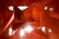Rött hall Fotografering för Bildbyråer