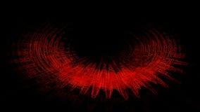 Rött halvcirkelformigt abstrakt begrepp Arkivfoto