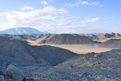 rött hav för kullar Royaltyfri Fotografi