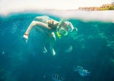 rött hav som snorkeling Royaltyfria Foton