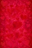 Rött hjärtakort Arkivfoton