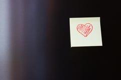 Rött hjärtameddelande Royaltyfria Bilder