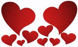Rött hjärtasymbol. Arkivbilder