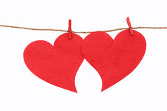 Rött hjärtasymbol. Royaltyfria Foton
