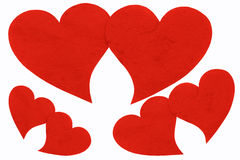 Rött hjärtasymbol. Royaltyfri Bild