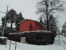 Rött hus Royaltyfria Bilder