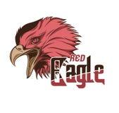 Rött huvud Eagle Vector Art Arkivbilder