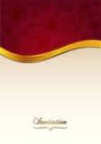 Rött inbjudanpapper Royaltyfria Bilder