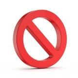 Rött inget (förbjudit) tecken, Royaltyfria Foton