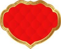 Rött inrama Arkivbild