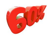 Rött isolerat procenttecken Arkivbilder