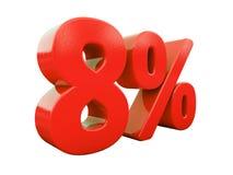 Rött isolerat procenttecken Royaltyfria Foton
