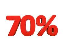 Rött isolerat procenttecken Royaltyfri Fotografi