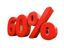 Rött isolerat procenttecken Royaltyfri Bild