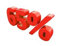 Rött isolerat procenttecken Royaltyfri Foto