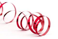Rött julfolieband Arkivfoto