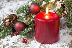 Rött julljus Arkivbilder