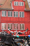 Rött Köpenhamnhus Arkivfoto