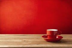 Rött kaffe kuper royaltyfri bild