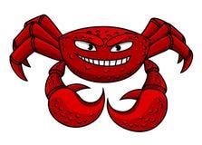 Rött krabbatecken för tecknad film Royaltyfria Foton