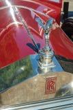 Rött kromgaller för 20HP Rolls Royce Arkivbild