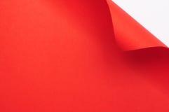 Rött krullningspapper Fotografering för Bildbyråer