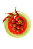 rött kryddigt för varma peppar Arkivbild