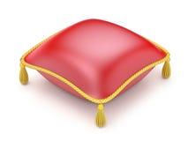 Rött kudde Fotografering för Bildbyråer