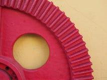 Rött kugghjul Arkivfoton
