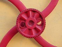 Rött kugghjul Royaltyfri Foto