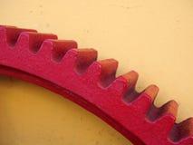 Rött kugghjul Arkivbild