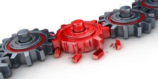 Rött kugghjul Royaltyfri Bild