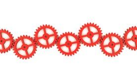 Rött kugghjulbegrepp Royaltyfri Fotografi