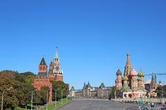 Rött kvadrera i Moscow Royaltyfria Bilder