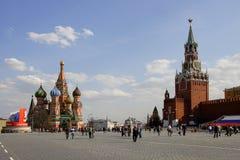 Rött kvadrera i Moscow Fotografering för Bildbyråer