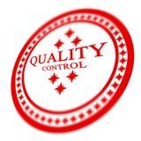 Rött kvalitets- kontrollerar stämpeln royaltyfri illustrationer